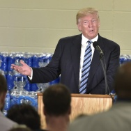 Republican presidential nominee Donald Trump speaks at the Bethel United Methedoist Church on September 14, 2016 in Flint, Michigan. / AFP / MANDEL NGAN        (Photo credit should read MANDEL NGAN/AFP/Getty Images)