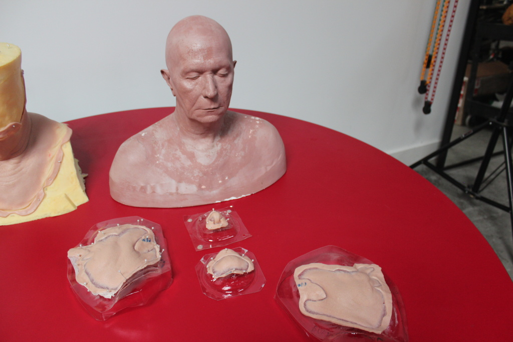 A cast of Gary Oldman's head and facial prosthetics that were used in the film