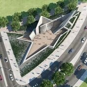 Holocaust Tower and Garden of Exile, Jewish Museum Berlin. Design by Daniel Libeskind.