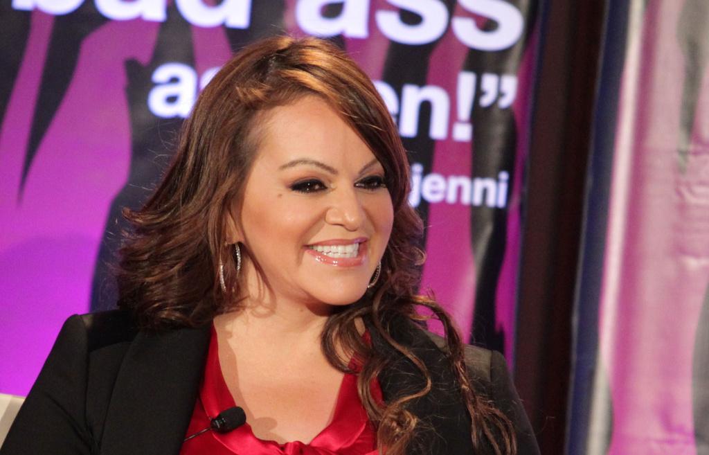 Singer Jenni Rivera speaks during the