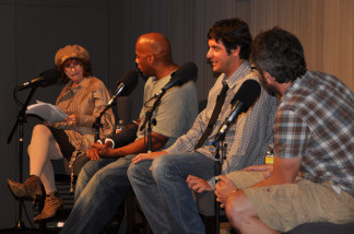 Patt, Alonzo Bodden, Ben Gleib, and Marc Maron during Comedy Congress from the Crawford Family Forum