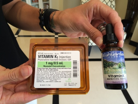 South Coast Midwifery and Women's Health Care gives parents the option of choosing the Vitamin K injection for their newborn, oral Vitamin K drops, or foregoing Vitamin K all together.