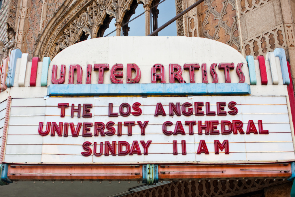 United Artists Ace Hotel Theater cathedral