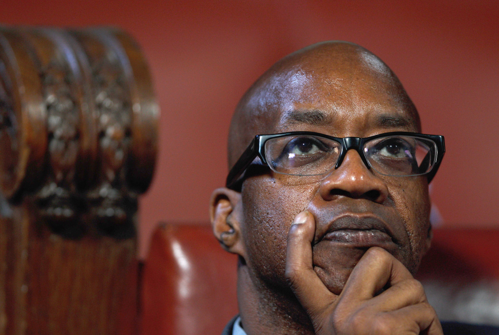 Edwin Moses looks on during a Science and Ethics in Sport Symposium at County Hall on October 3, 2011 in London, England.