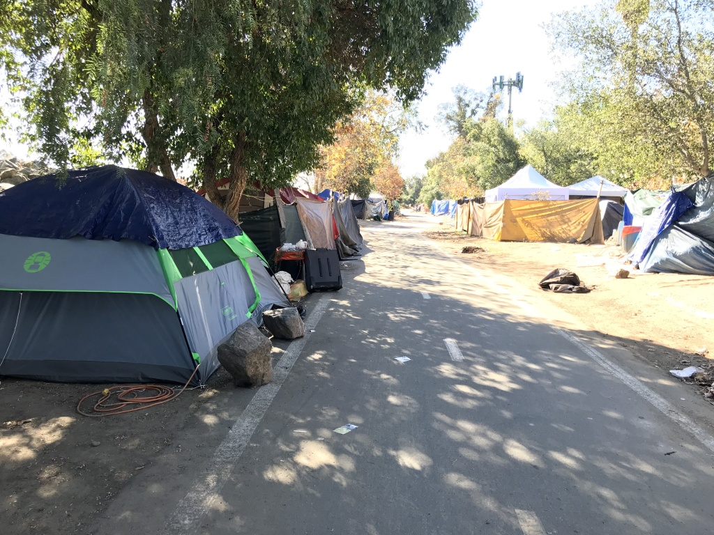 Santa Ana River homeless encampment