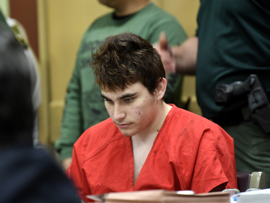 Parkland, Fla., school shooting defendant Nikolas Cruz, at a court hearing in April.