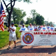 Labor Day parade in Marietta, Ohio.