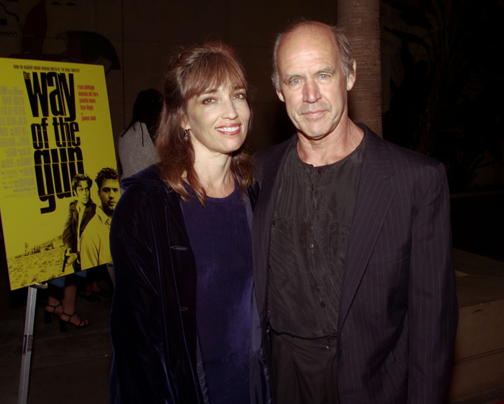 Geoffrey Lewis and his wife Paula at the premiere of 'The Way of the Gun' in 2000. The prolific television actor and frequent co-star of Clint Eastwood died Tuesday at the age of 79.