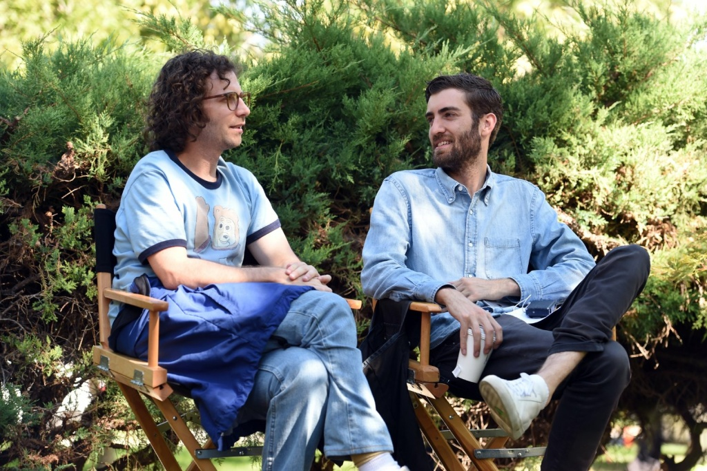 Kyle Mooney and Director Dave McCary on set. © Brigsby Bear Movie, LLC. Courtesy of Sony Pictures Classics.