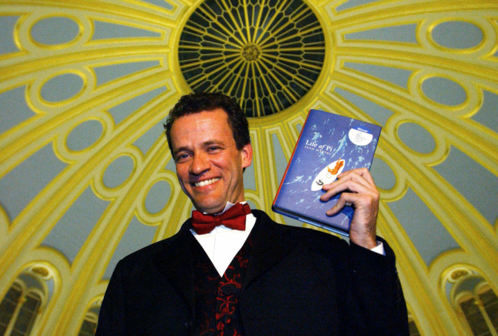 Canadian author Yann Martel smiles for photographers after winning the Man Booker Prize for Fiction 2002 at the British Museum on October 22, 2002 in London, England. The Man Booker Prize for Fiction is the UK's best known literary prize.