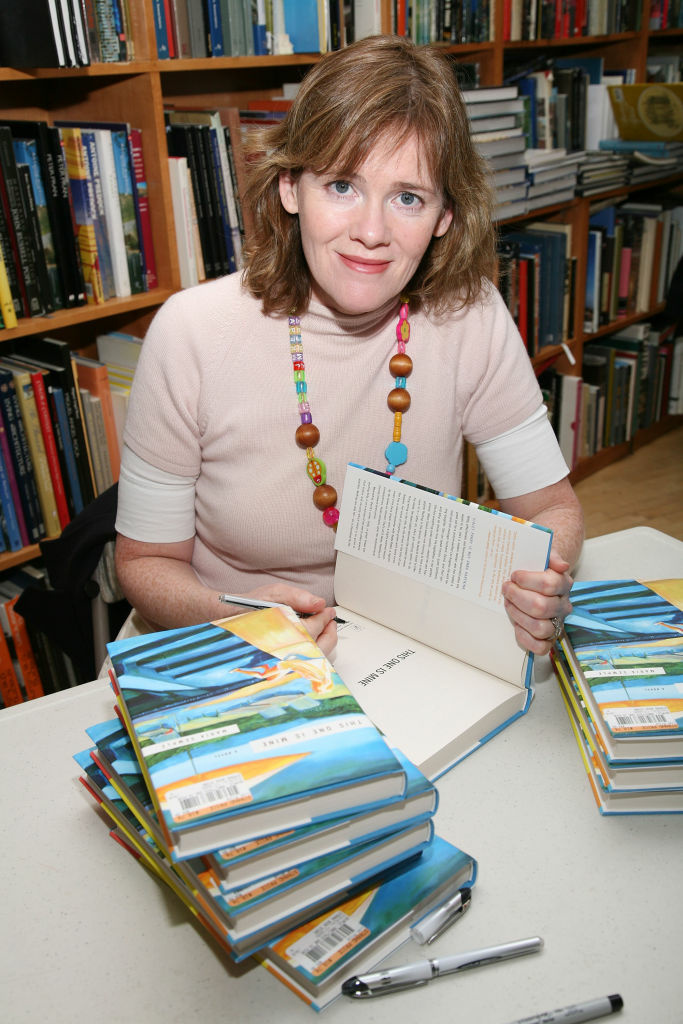Writer Maria Semple poses for photos at Strand Book Store in New York City.