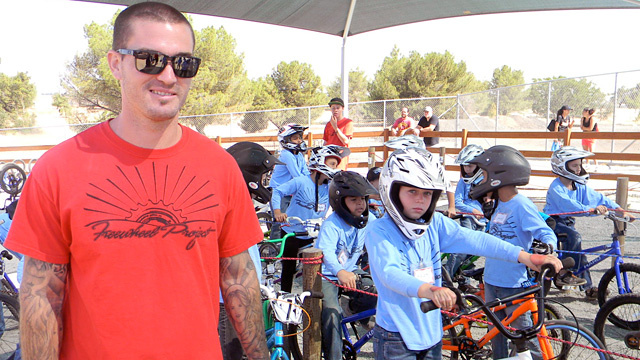 Tony Hoffman teaches kids of all ages how to ride BMX bikes at his free summer camp called the Freewheel Project.