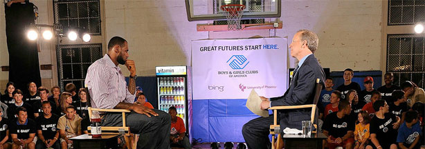 LeBron James announces his decision during a primetime special hosted by ESPN's Jim Gray on Thursday night at the Boys & Girls Club of America in Greenwich, Conn.