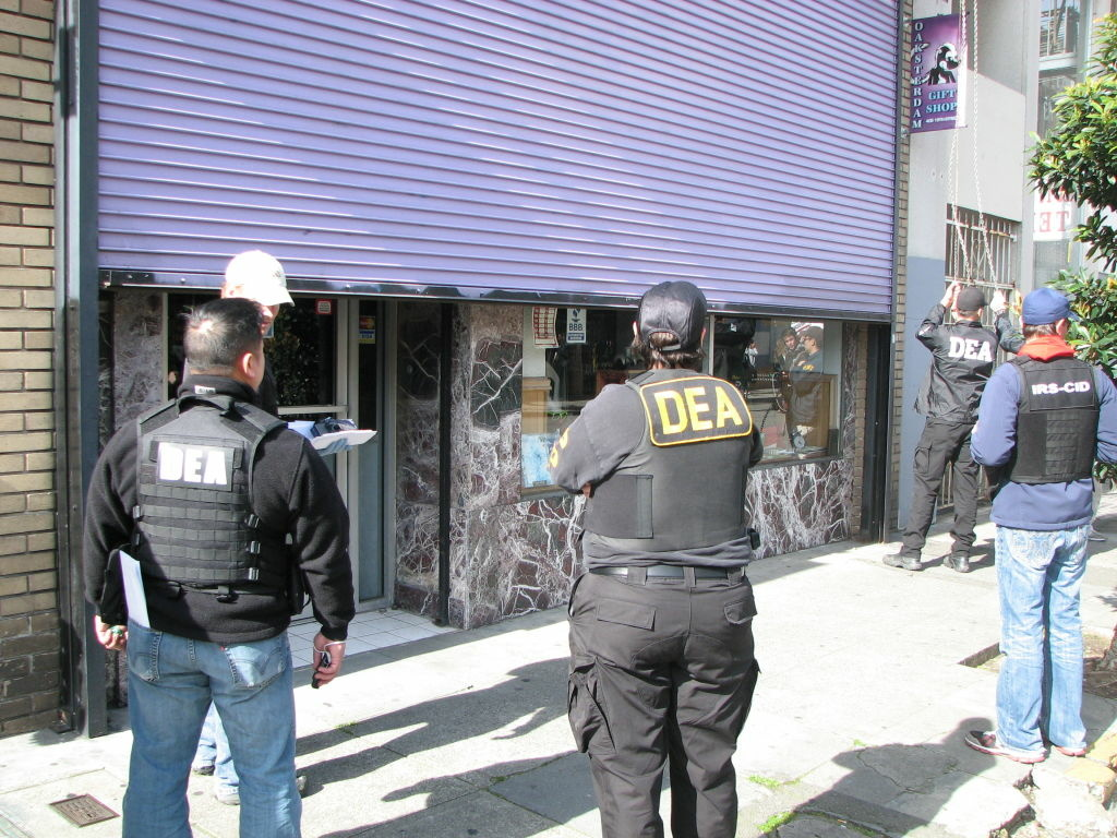 DEA agents at work.