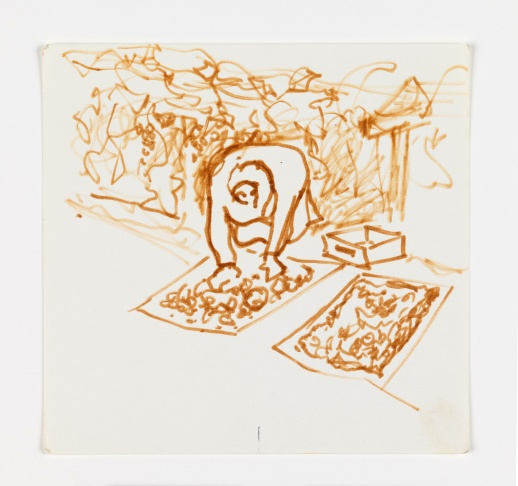 José Montoya, Untitled, date unknown. Ink on paper, 35 x 30 cm.