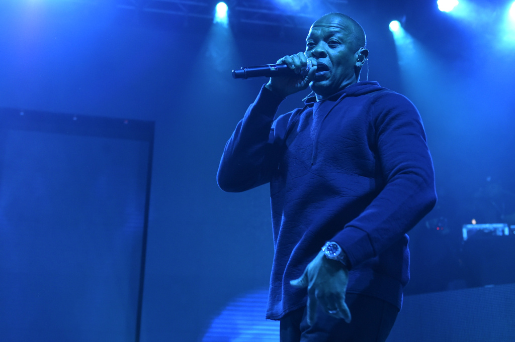 FILE- In this Feb. 12, 2015, file photo, Dr. Dre performs at HOT 97's