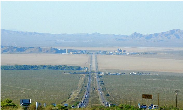 File photo: I-15 freeway near the California-Nevada state line.