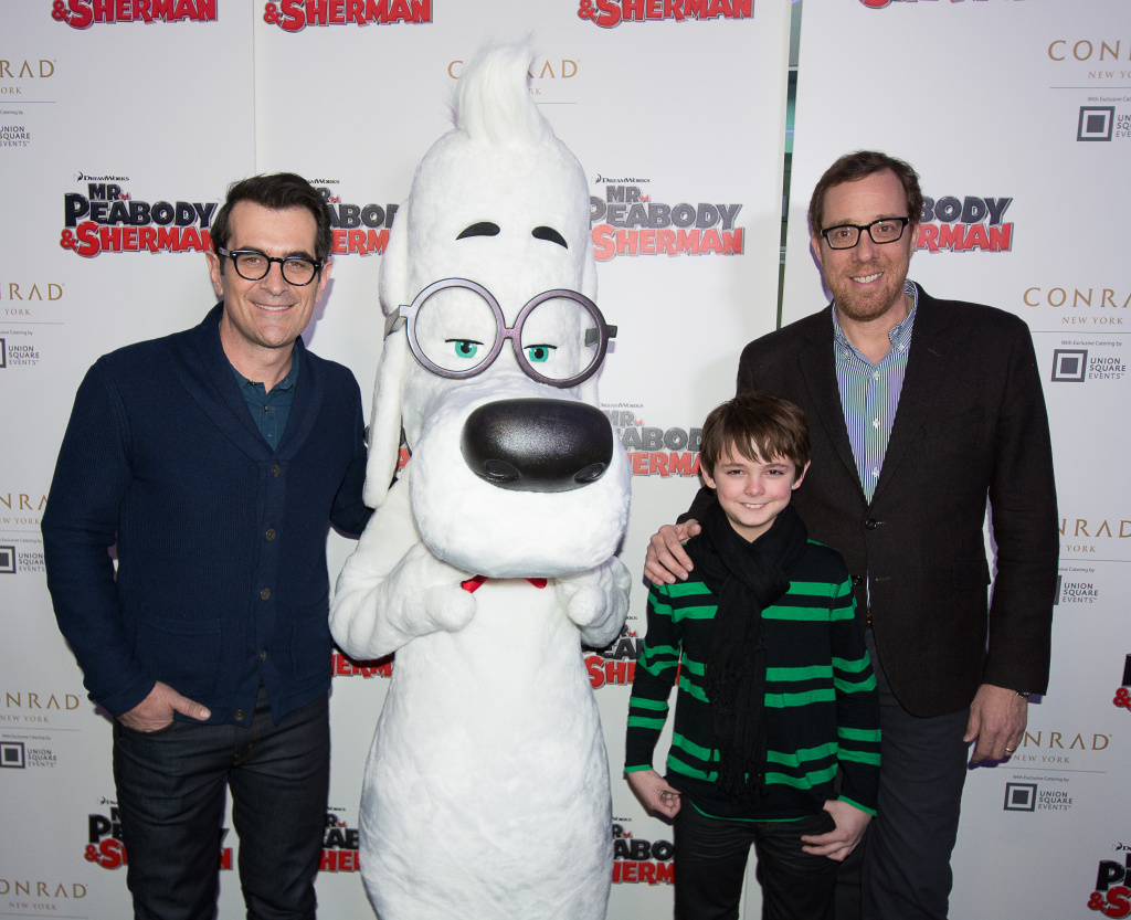 Ty Burrell, Peabody, Max Charles and Rob Minkoff  attends the screening of DreamWorks'