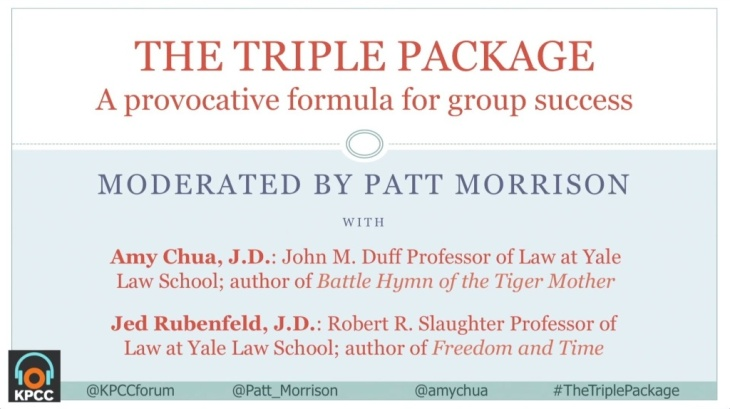 The Triple Package -- Amy Chua's provocative formula for group success
