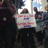 Rally in support of LA Unified Supt. John Deasy
