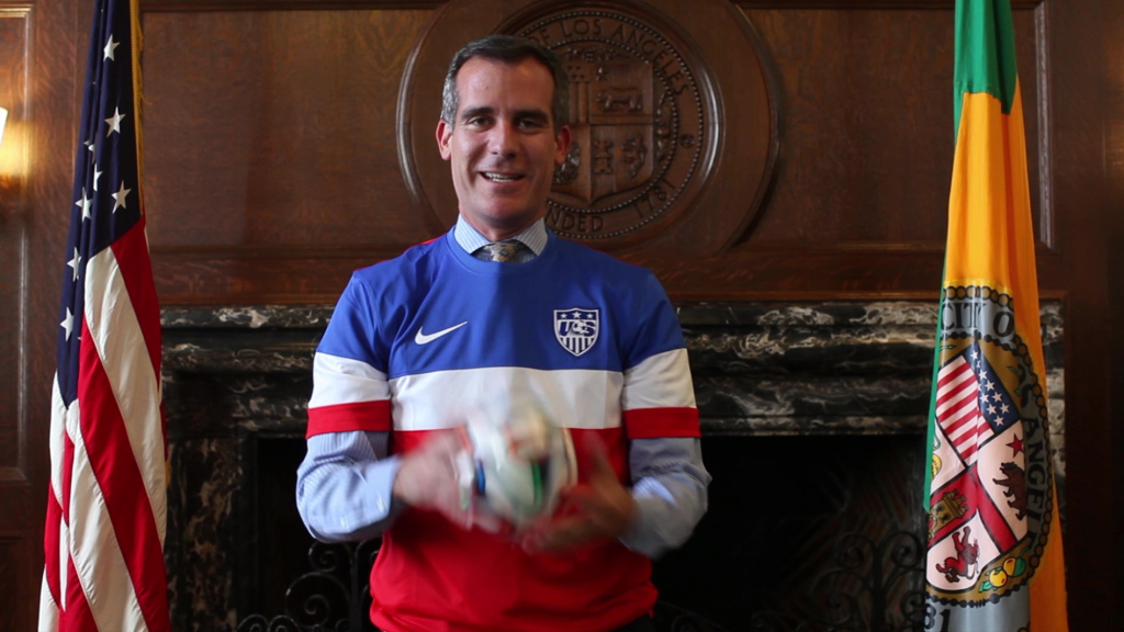 Los Angeles Mayor Eric Garcetti talks World Cup 2014.