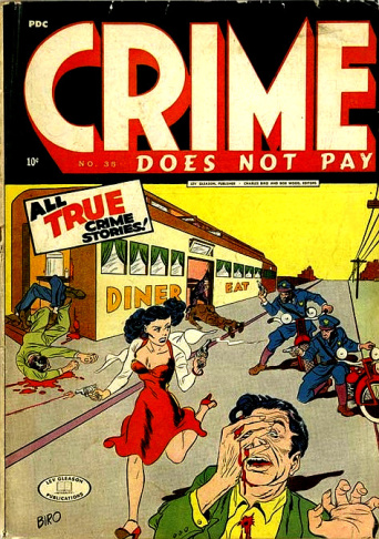 A typical crime comic banned under LA's 1948 ordinance