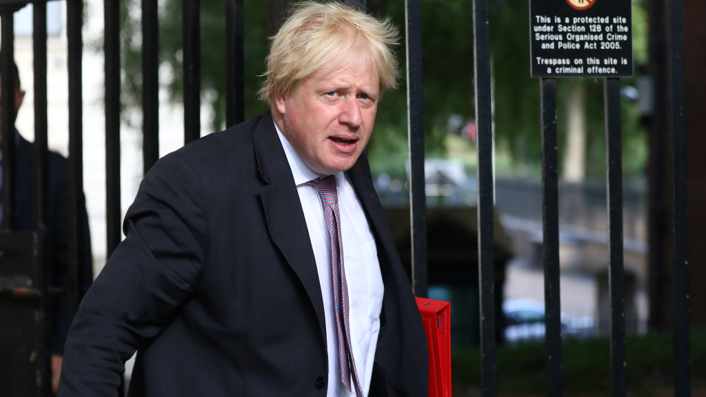 Boris Johnson told Prime Minister Theresa May on Monday that he was resigning his post as Britain's foreign secretary. He's seen here arriving at 10 Downing St. in London last week.