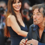 US actor and director Al Pacino blows ki