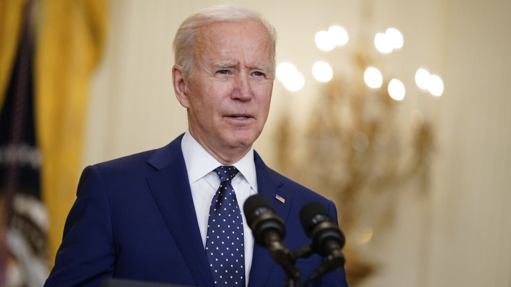 President Biden, here at the White House on April 15, announced Monday that his administration is lifting the ceiling on the number of refugees who can be admitted into the country this fiscal year.