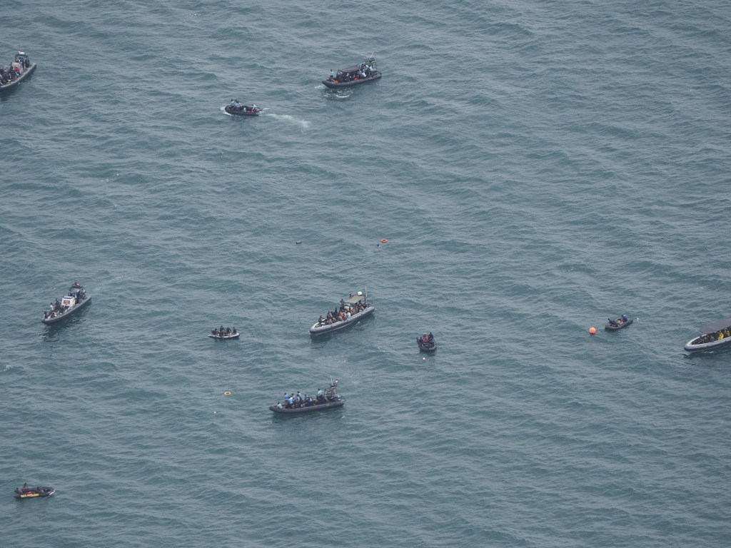 Indonesian navy forces were able to recover a