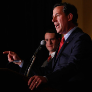 Rick Santorum Attends Missouri Primary Night Event