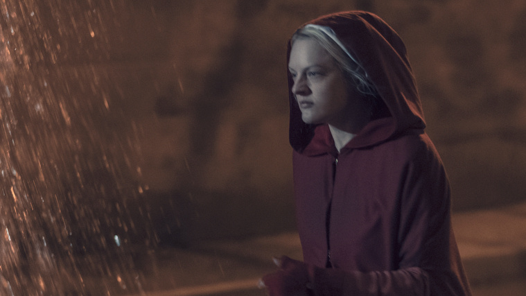 June (Elisabeth Moss) faces big changes in the season finale of <em>The Handmaid's Tale</em>.