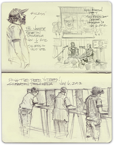 Mike Sheehan's election 2012 sketchbook