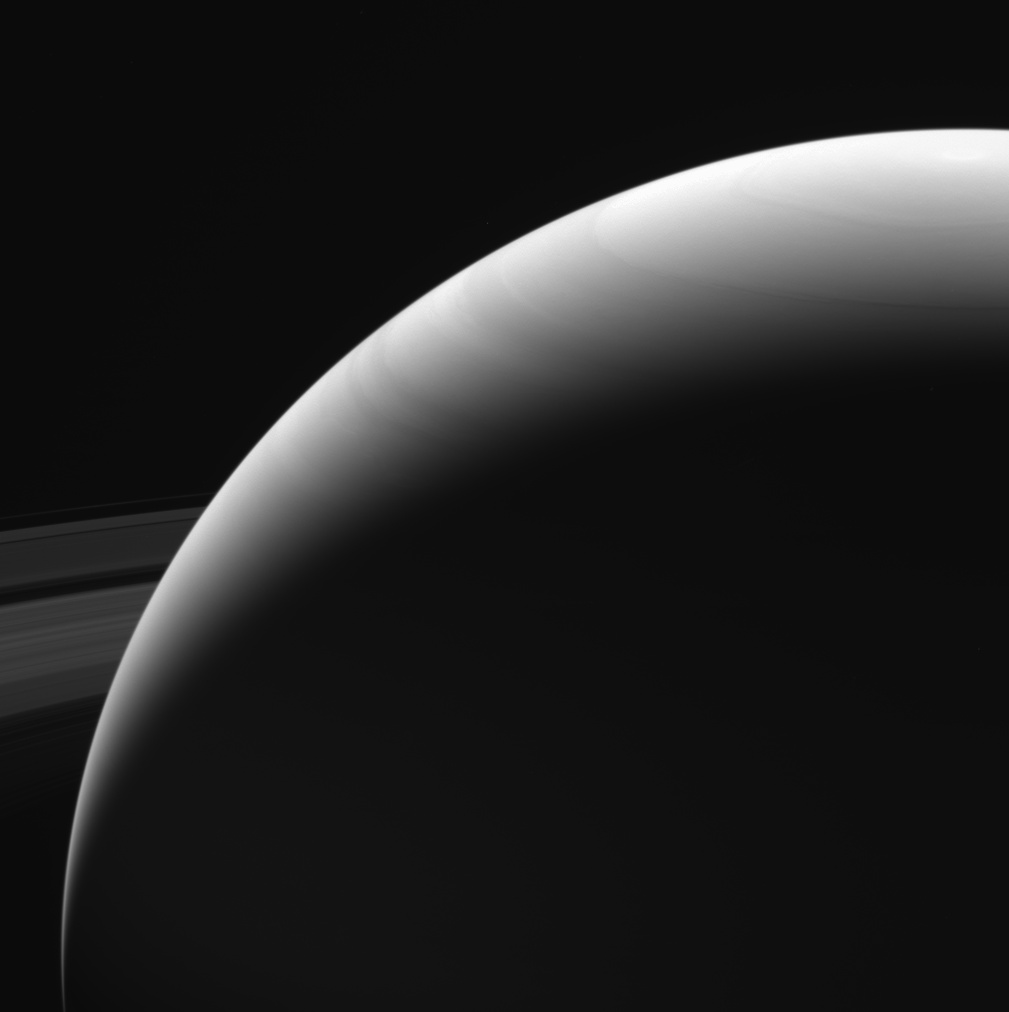 Taken by NASA's Cassini spacecraft on Sept. 13, 2017, this is among the last images Cassini sent back to Earth.