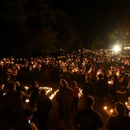 "Hundreds of people gather for a vigil  in Roseburg, Oregon on October 1, 2015, for ten people killed and seven others wounded in a shooting at a community college in the western US state of Oregon. The 26-year-old gunman, identified by US media as Chris Harper Mercer, was killed following a shootout with police. A visibly angry President Barack Obama made an impassioned plea for gun control in the wake of the shooting, blasting Congress for its failure to act in the face of ""routine"" mass killings."