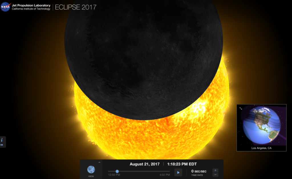 How much of an eclipse we'll be able to see in Los Angeles.