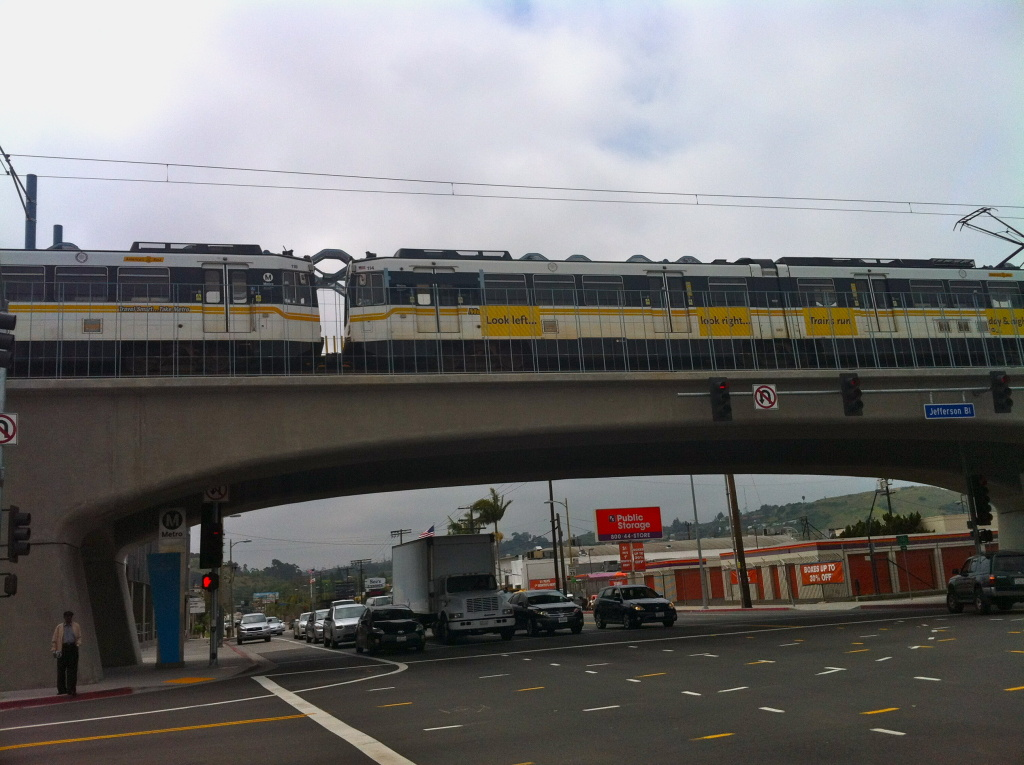 The station at La Cienega and Jefferson Boulevards in Culver City is the last westbound stop for now on the Expo Line. Another station will open in Culver City in the summer.