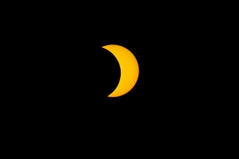 A view of the August 21, 2017 partial solar eclipse from Atwater Village.
