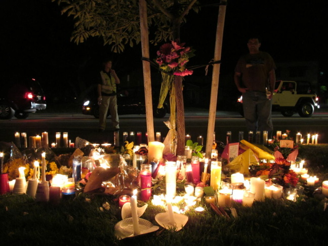 The Seal Beach community held a candlelight vigil Oct. 13, 2011, the day after the worst mass shooting in Orange County history.