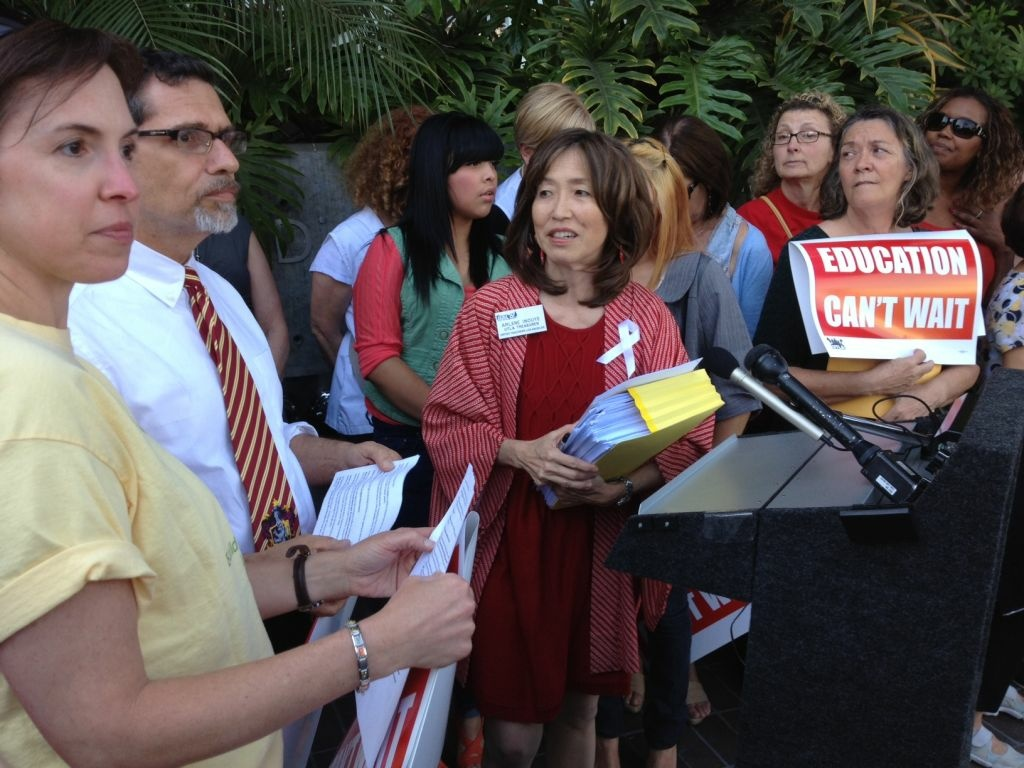 United Teachers Los Angeles filed more than 600 Williams Complaints with the Los Angeles Unified School District. (May 8, 2012)