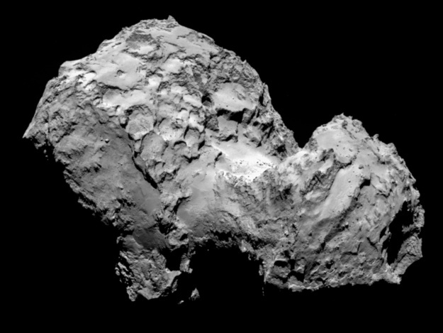 An image of the comet that the Rosetta spacecraft is orbiting.