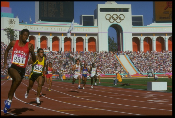 400M QUALIFYING HEAT OLYMPICS