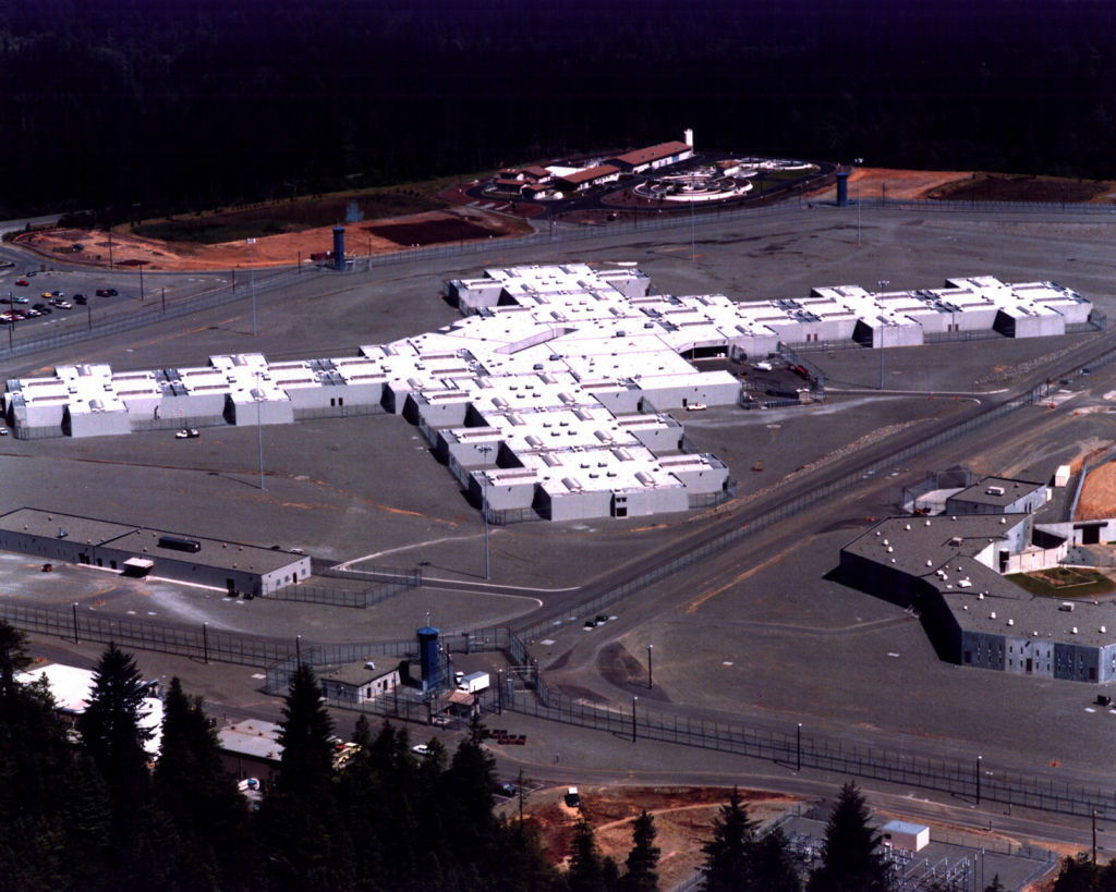 An arial view of Pelican Bay State Prison