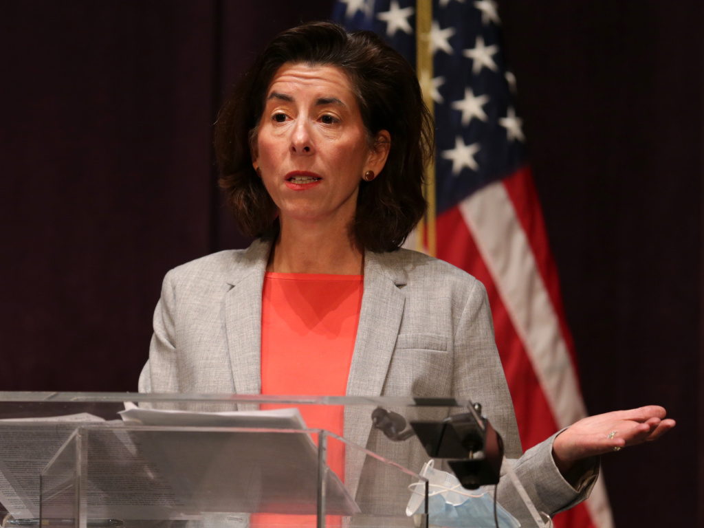 Rhode Island Gov. Gina Raimondo was named Thursday as President-elect Joe Biden's intended nominee for secretary of the U.S. Commerce Department, which oversees the Census Bureau.