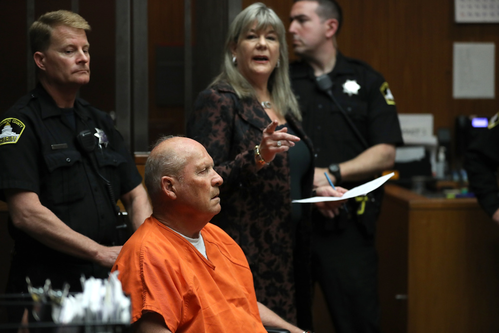 Joseph James DeAngelo, the suspected Golden State Killer, appears in court for his arraignment on April 27, 2018 in Sacramento, California.