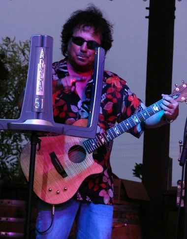 Craig Chaquico playing the Beamz on Catalina last weekend.