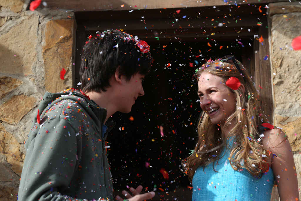 (L-R) Asa Butterfield and Britt Robertson star in