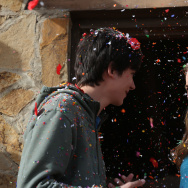 "(L-R) Asa Butterfield and Britt Robertson star in ""The Space Between Us."""