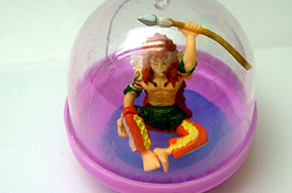 Wikipedia says gashapon is an onomatopoeia: