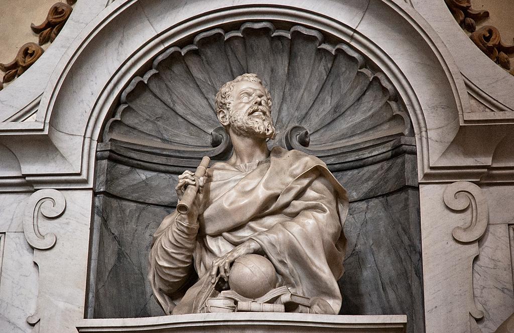 Galileo Galilei Mausoleum - Basilica di Santa Croce - Florence, Italy